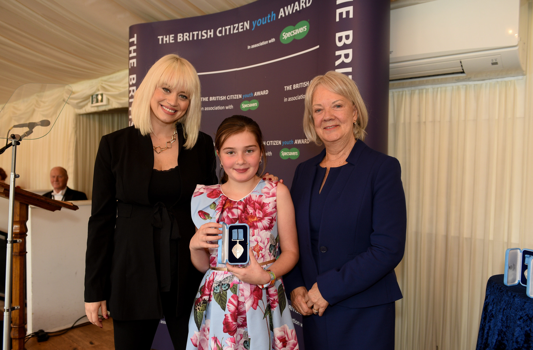 Kimberly Wyatt, Chloe Blanchfield BCyA, Dame Mary Perkins, Co-Founder, Specsavers